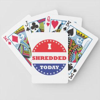 I Shredded Today Poker Deck