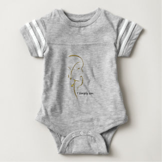 I SIMPLY A.M. gold Baby Bodysuit