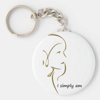 I SIMPLY A.M. gold Key Ring