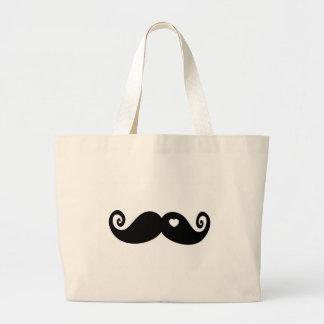 I simply love Moustache Jumbo Tote Bag