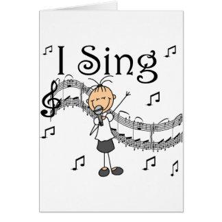 I Sing Card