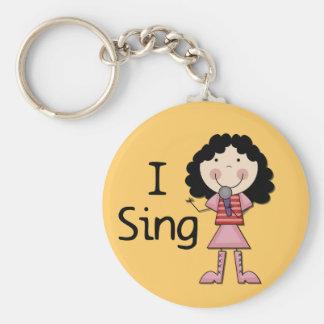 I Sing Female Tshirts and Gifts Key Chain