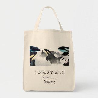 I Sing. I Dream. I Love........Anyway tote bag