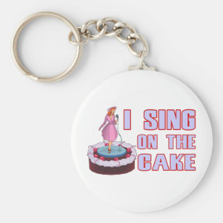 I Sing On The Cake Key Ring