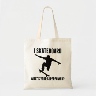 I Skateboard What's Your Superpower? Canvas Bags