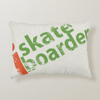 I SkateBoarder Accent Throw Pillow Accent Cushion