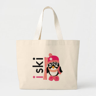 I Ski Penguin Jumbo Tote Bag