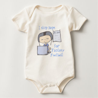 I skip naps for fantasy football blue baby bodysuit
