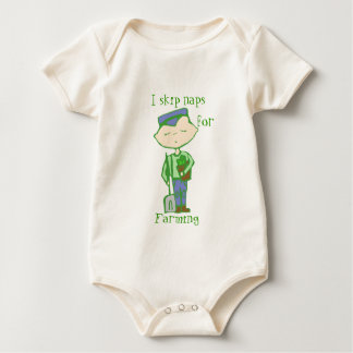 i skip naps for farming baby clothes bodysuit