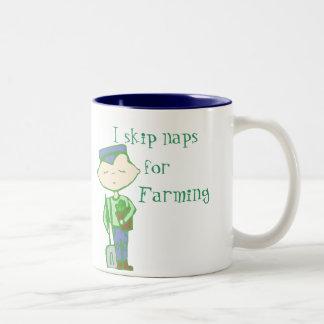I skip naps for farming mug