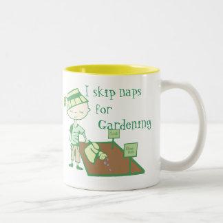 I skip naps for gardening mug