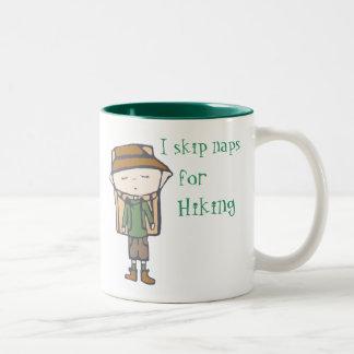 I skip naps for hiking mug