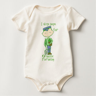 i skip naps for organic farming baby one-piece creeper