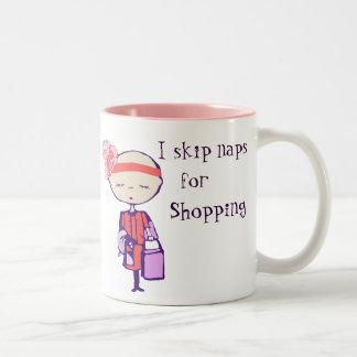 I skip naps for shopping mug
