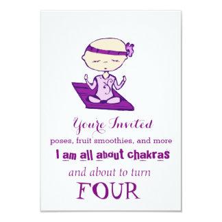 I skip naps for yoga babe birthday 9 cm x 13 cm invitation card