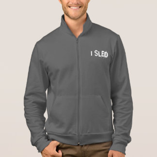 """I SLED"" Sledders.com Grey Zip-up Coat Jacket"