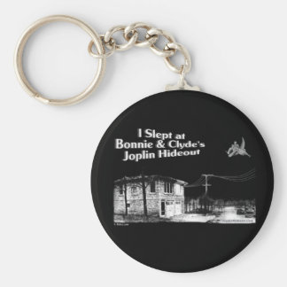 I slept at Bonnie & Clyde's Joplin Hideout Key Ring