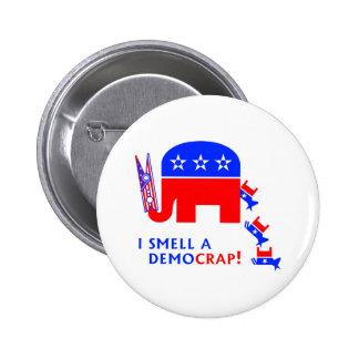 I Smell A Democrap 6 Cm Round Badge