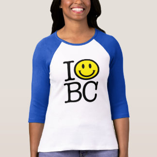 I smile BC women's fitted baseball shirt - royal b