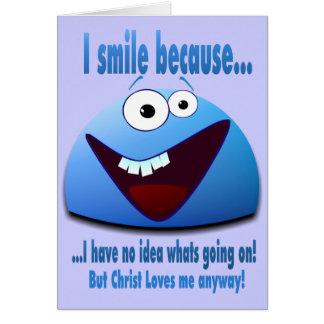 I smile because...V2 Card