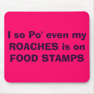 I so Po' even my ROACHES is on FOOD STAMPS Mouse Pad