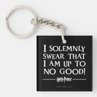 I Solemnly Swear Double-Sided Square Acrylic Key Ring