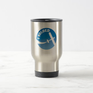 I Soloed & Aeroplane Graphic Travel Mug