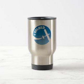 I Soloed & Airplane Graphic Travel Mug