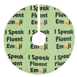 I Speak Emoji Tree Skirt