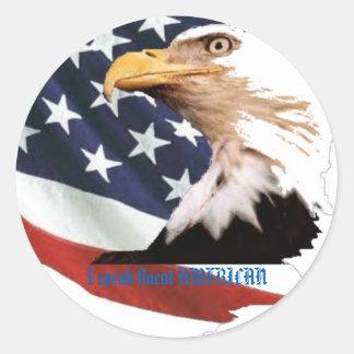 I speak fluent AMERICAN Classic Round Sticker
