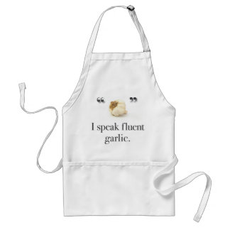 """I Speak Fluent Garlic"" apron"