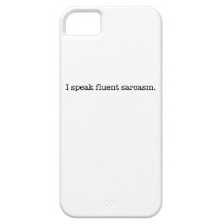 I speak fluent sarcasm barely there iPhone 5 case