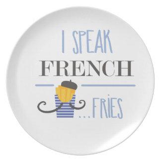 I Speak French... Fries Plate