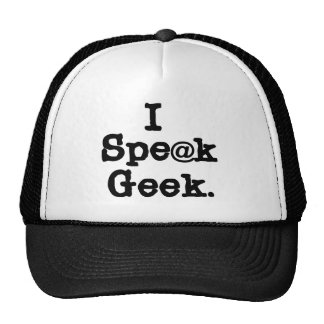 I Speak Geek Cap