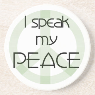 I Speak My Peace T-shirts and Gifts Drink Coasters