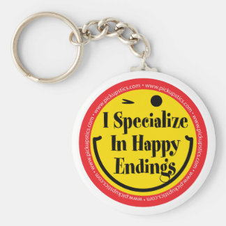 I specialize in Happy Endings Key Ring