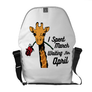 I Spent March Waiting For April The Giraffe Commuter Bag