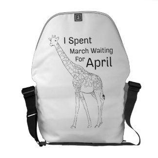 I Spent March Waiting For April The Giraffe Courier Bag