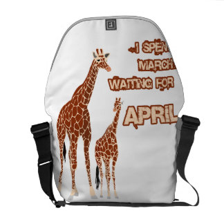 I Spent March Waiting For April The Giraffe Funny Courier Bag
