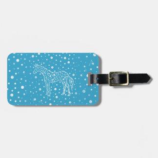 I Spot a Blue Unicorn Luggage Tag