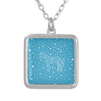 I Spot a Blue Unicorn Silver Plated Necklace