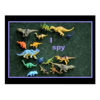 I spy Dino! Postcard