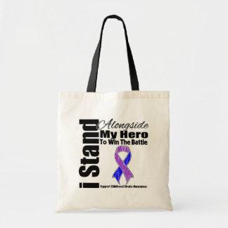 I Stand Alongside My Hero Childhood Stroke Canvas Bags