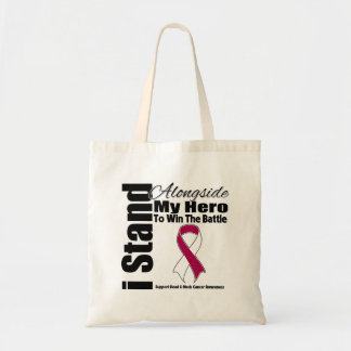 I Stand Alongside My Hero Head and Neck Cancer Tote Bags