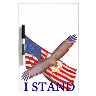 i stand for America Dry Erase Board