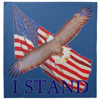i stand for America Napkin