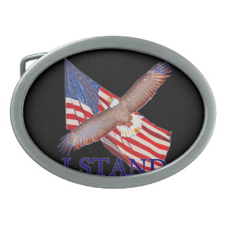 i stand for America Oval Belt Buckles