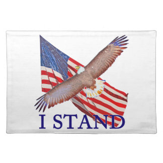 i stand for America Placemat
