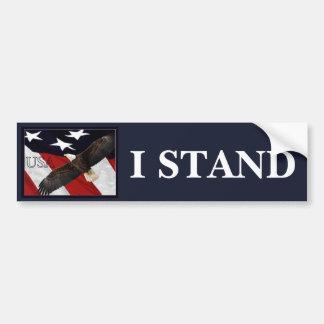 I Stand/USA Bumper Sticker