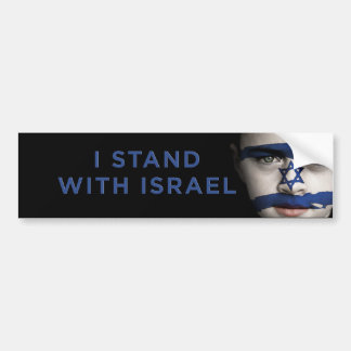 """I stand with Israel"" Bumper Sticker"